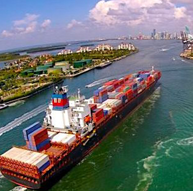 CARGO SHIP IN MIAMI